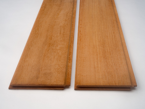 Tongue & groove cladding with endmatch