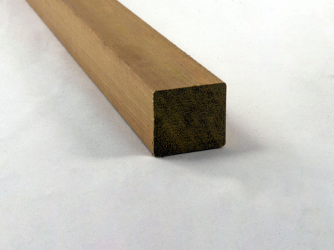 Underlying beam - Four sides planed with rounded edges